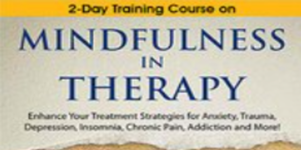 $119. 2-Day Certificate Course on Mindfulness in Therapy Enhance Your Treatment Strategies for Anxiety, Trauma, Depression, Insomnia, Chronic Pain, Addiction and More