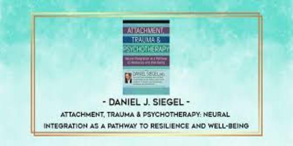 42$. Attachment, Trauma & Psychotherapy Neural Integration as a Pathway to Resilience and Well-Being - Daniel J. Siegel