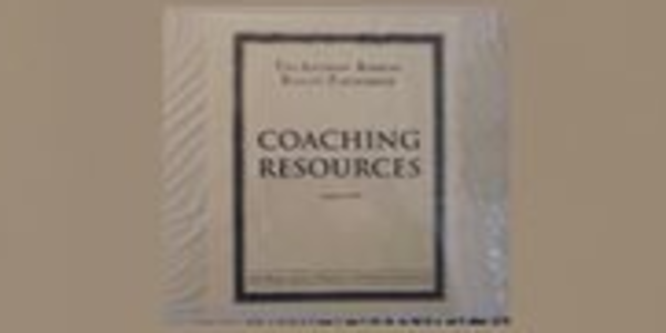 13$. Coaching Resources March 1999 – Anthony Robbins