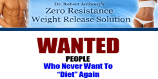 Zero Resistance Weight Release - Dr Robert Anthony