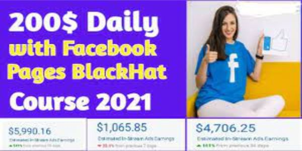 $19 $200/Day With Facebook Pages Black Hat Course (2021)